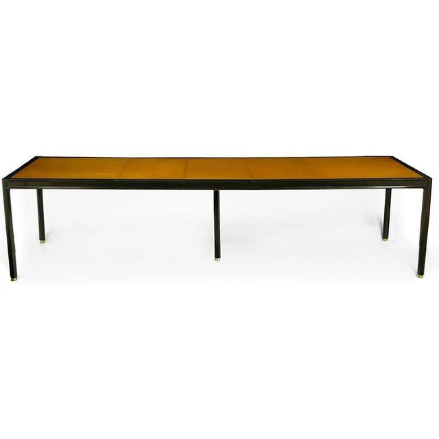 Mid-Century Modern Harvey Probber Walnut & Mahogany Parsons Dining Table For Sale - Image 3 of 8