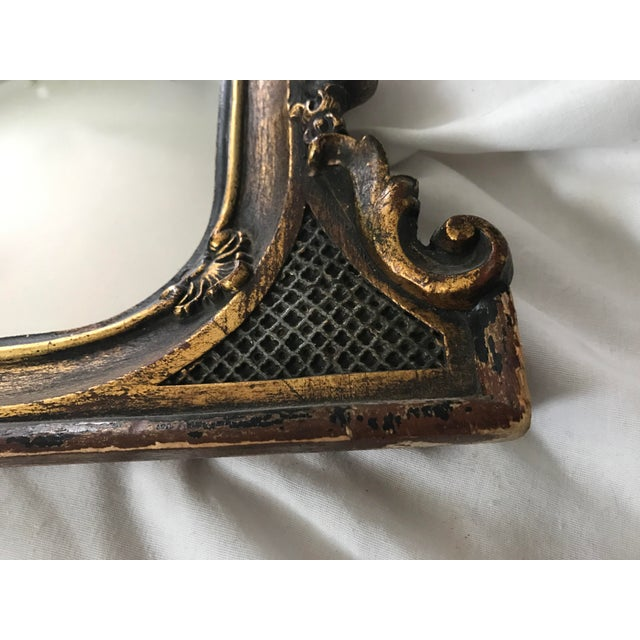 Antique Ebonized Giltwood Mirror - Image 6 of 11