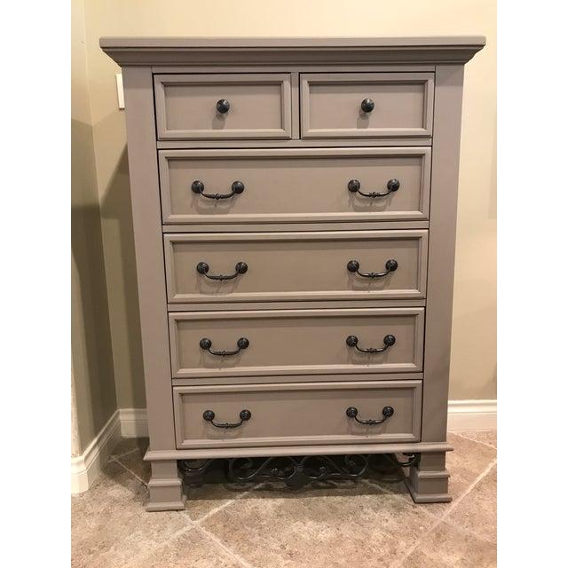 Tall Highboy Wooden Dresser - Image 2 of 3