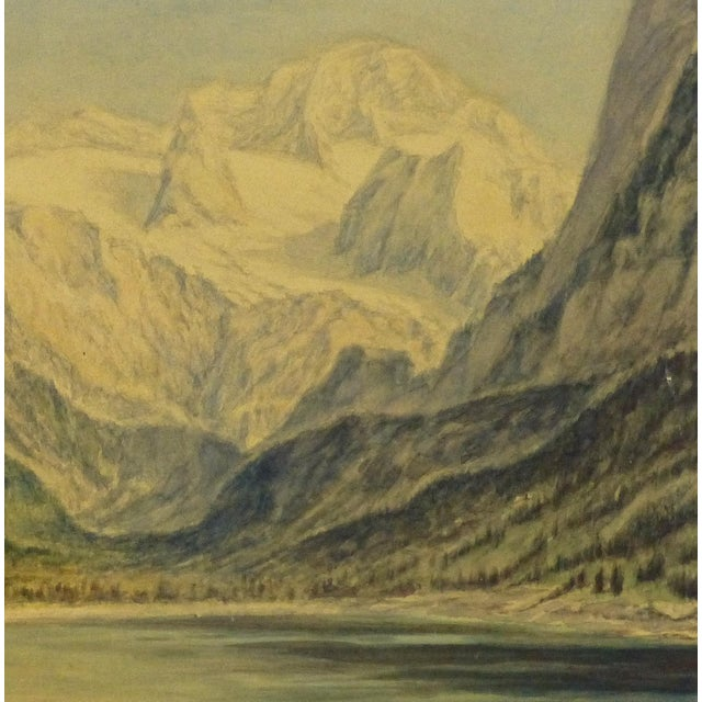1950 Vintage Original Watercolor, Majesty's Point - Image 2 of 4
