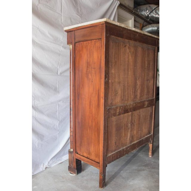 19th Century French Empire Marble Top Secretaire For Sale - Image 10 of 11