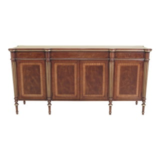 Regency Ej Victor Walnut Sideboard With Inlay For Sale
