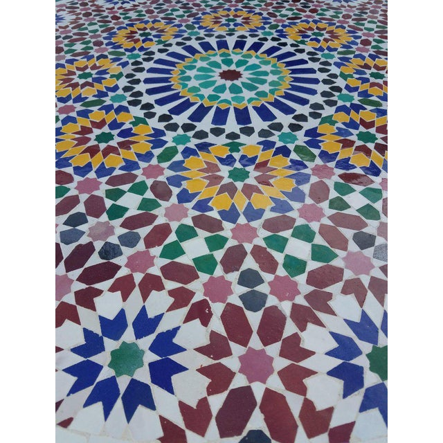 Moroccan Multi-Color Mosaic Coffee Table For Sale - Image 4 of 7