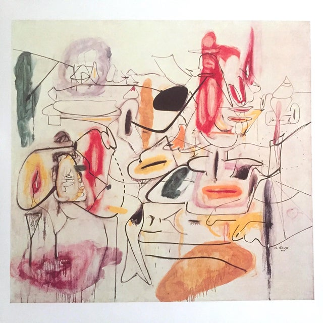 Vintage 1981 Arshile Gorky Original Abstract Lithograph Print Exhibition Poster - Image 6 of 9