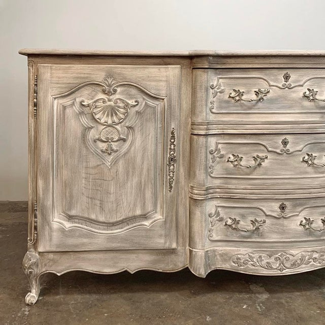 French Antique French Louis XV Whitewashed Buffet For Sale - Image 3 of 13