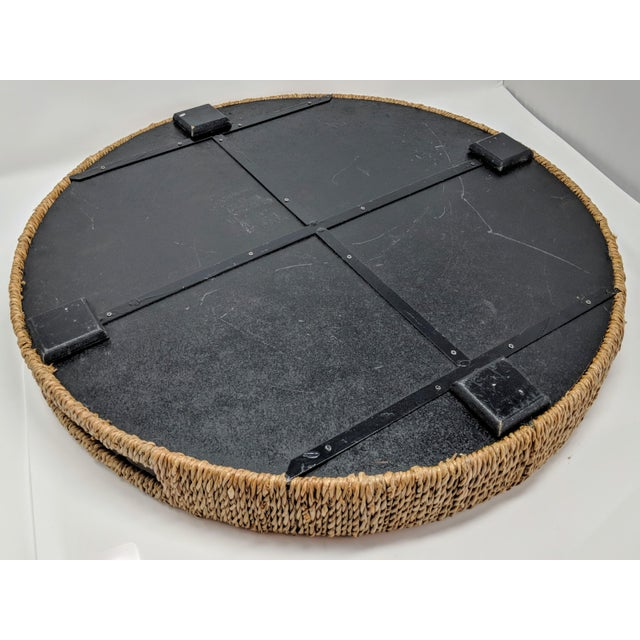 Palecek Style Round Ottoman Tray For Sale - Image 11 of 13