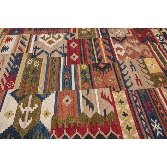 "Apadana - Modern Kilim Rug, 8'5"" x 9'9"" For Sale - Image 4 of 6"