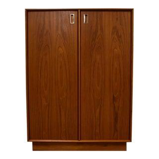 Danish Modern Teak Armoire Dresser For Sale