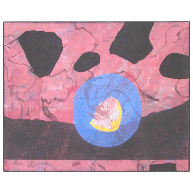 Abstract Modernist Painting by French Artist Jeanick Bouys For Sale - Image 10 of 10