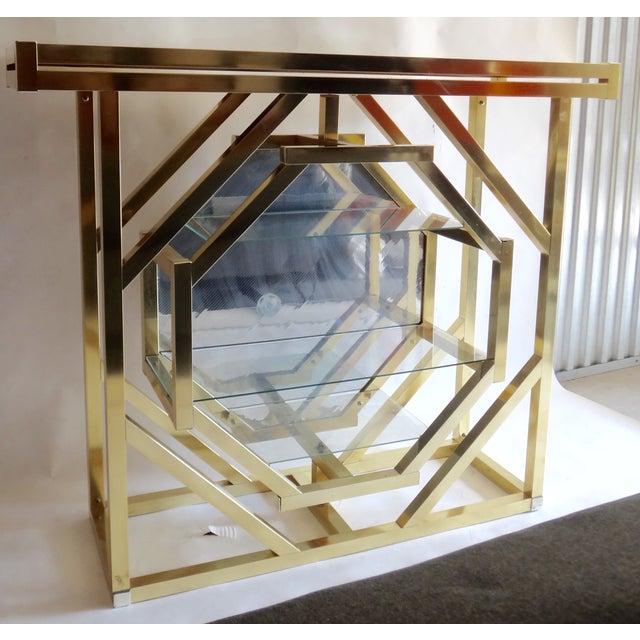 Brass Pivoting Octagon Display Bar - Image 2 of 11