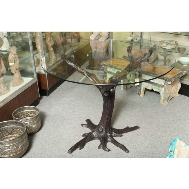 Contemporary Bronze Sculptural Tree-Trunk Dining Table Base From Thailand For Sale - Image 10 of 10