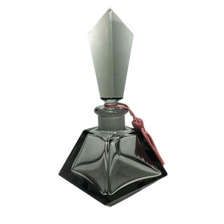 Smoky Glass Perfume Bottle For Sale