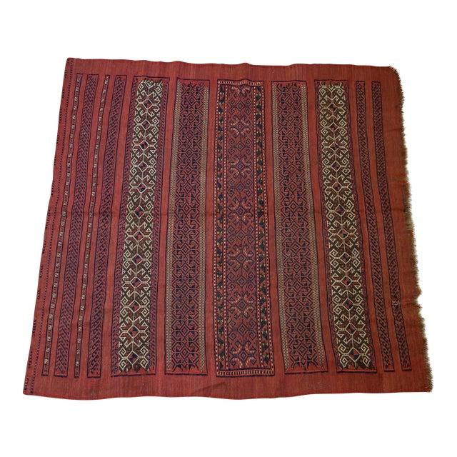 "Vintage Turkish Aztec Print Rug - 5'1"" x 5'3"" - Image 1 of 8"