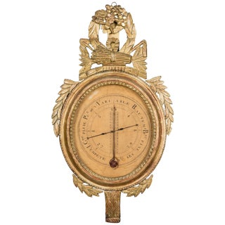 18th Century, French, Louis XVI Barometer/Thermometer For Sale