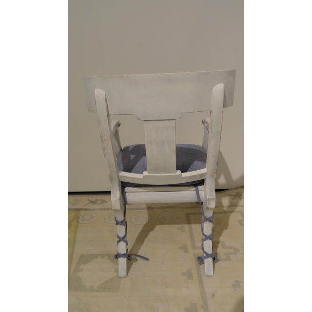 Mediterranean 1990s Vintage Klismos Style Armchair For Sale - Image 3 of 11