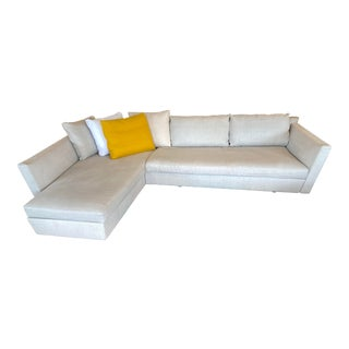 Flexform Adagio Two Piece Sectional For Sale