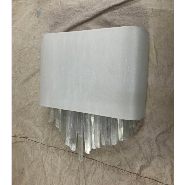 White Whitewash Wall Sconce by Currey & Company For Sale - Image 8 of 8