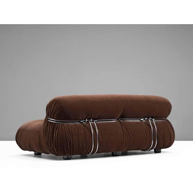 'Soriana' sofa, in fabric and metal, by Afra & Tobia Scarpa for Cassina, Italy. Original upholstery in very good...