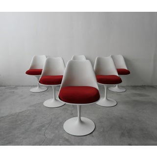 Set of 6 Authentic Early Tulip Dining Chairs by Eero Saarinen for Knoll Preview