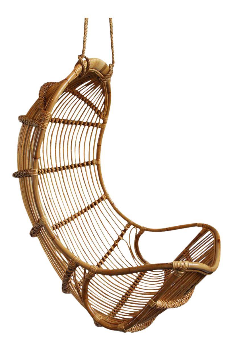 Hanging Bamboo Scoop Chair