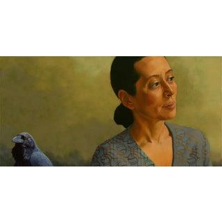 Contemporary Portrait Oil Painting by Deborah DeSaix For Sale