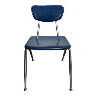 Virco 3000 Series Hard Plastic and Chrome Chair For Sale
