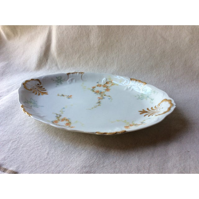 French Heirloom Porcelain Gravy Boat and Platters Serving Pieces - 4 Pc. Set For Sale - Image 9 of 13