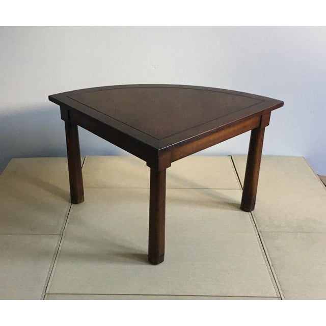 Mid Century Corner Table With Reverse Tapered Legs For Sale - Image 11 of 11