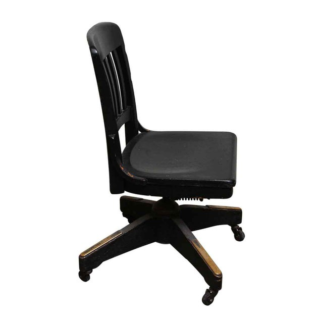Johnson Black Wooden Oak Chair On Casters Chairish