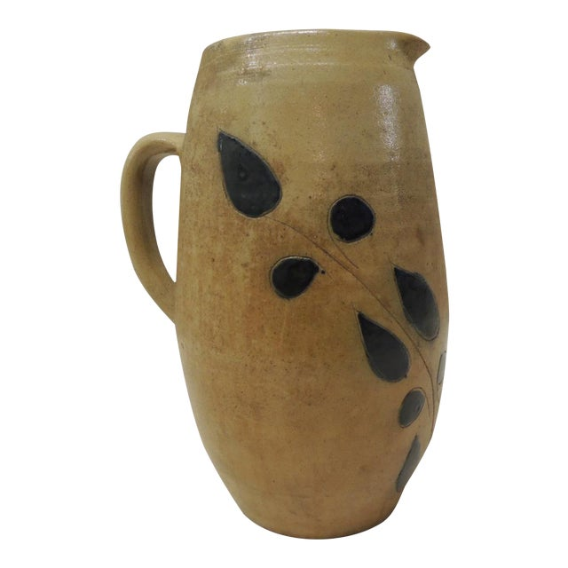 Vintage Glazed Stoneware Pitcher - Image 1 of 4