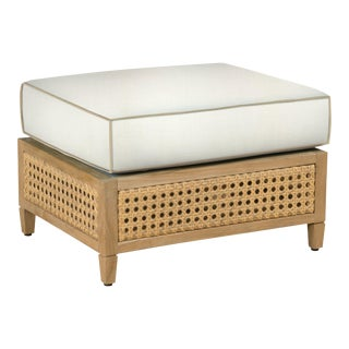 Keys Ottoman, White and Coal For Sale