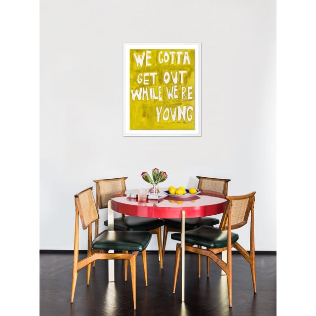 Contemporary We Gotta Get Out While We're Young by Virginia Chamlee in White Frame, Medium Art Print For Sale - Image 3 of 4