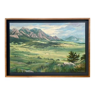 Mountain Landscape Oil on Canvas Painting by S. Kristen Olson For Sale