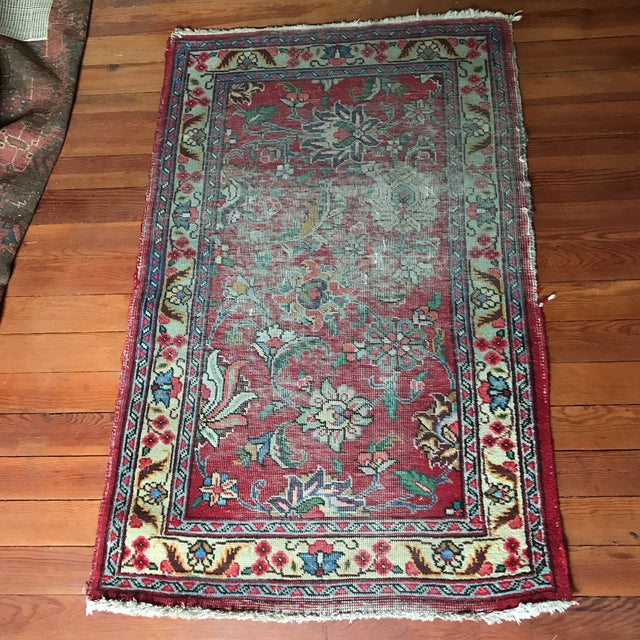 Well-Worn Persian Rug - 2′11″ × 4′6″ - Image 2 of 4