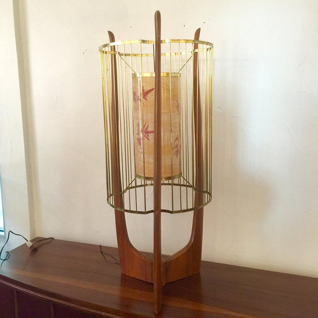 Modaline Sculptural Lamp with Original Shade For Sale - Image 5 of 6