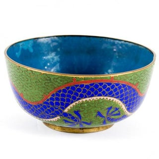 19th Century Antique Chinese Cloisonne Dragon Bowl Preview