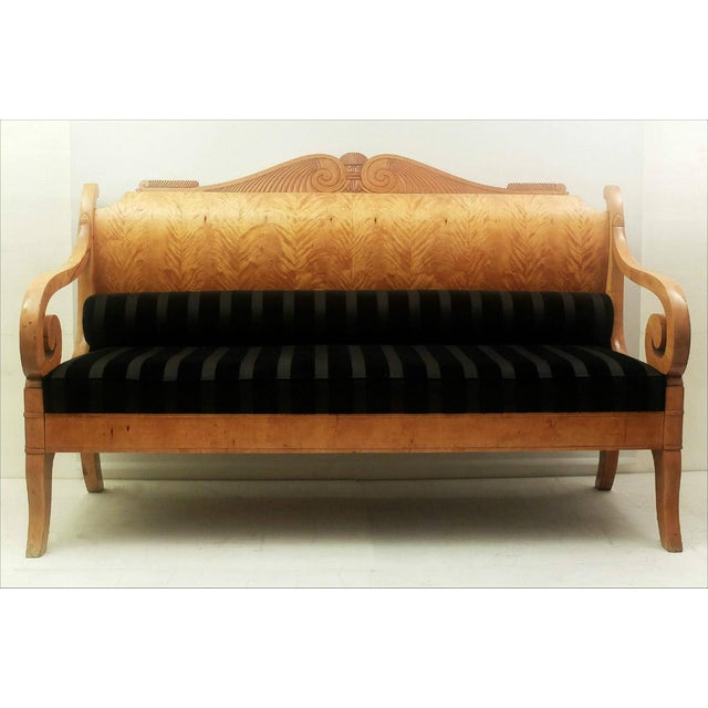 Early 19th Century Russian Biedermeier Sofa in Birchwood For Sale - Image 6 of 6