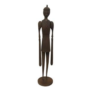Sculpture - Vintage Standing Folk Art Figure For Sale