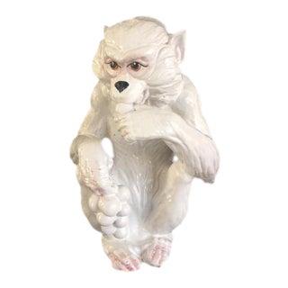Glazed Ceramic Italian Monkey