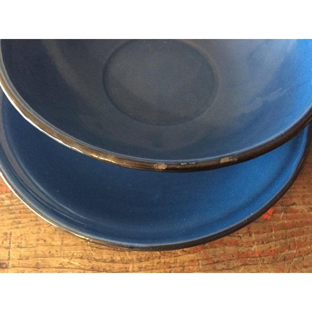 Blue and Black Rim Enamelware Set - 5 Pieces - Image 5 of 5