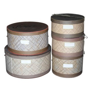 Saks Fifth Ave. Hat Boxes - Set of 5 For Sale