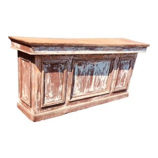 19th Century Rustic Belgium Storefront Counter For Sale