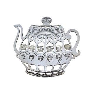 Victorian Silver-Plate Teapot Trivet For Sale