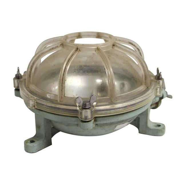 Reclaimed Lucite Green & Clear Nautical Sconce For Sale - Image 6 of 6