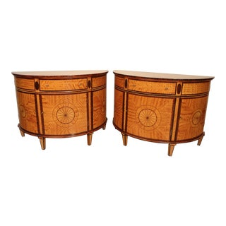 1990s Regency Demilune Cabinets - a Pair For Sale