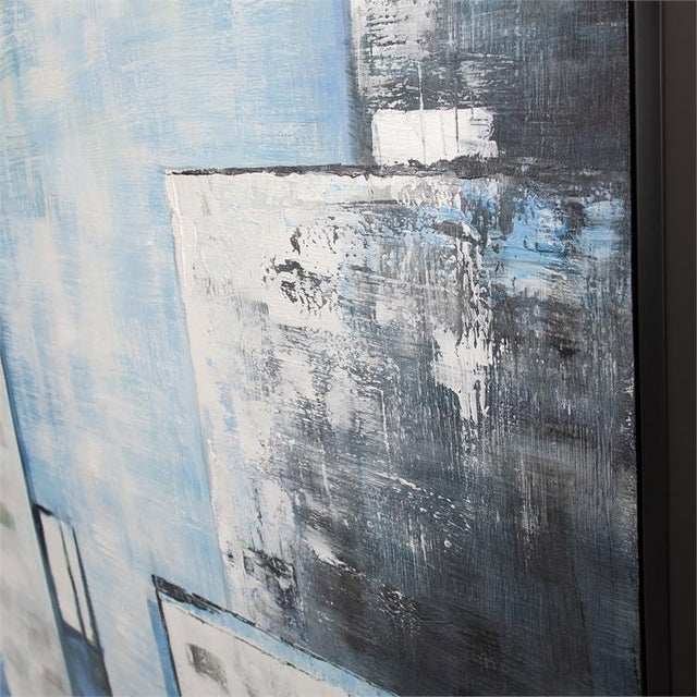 Abstract Kenneth Ludwig Chicago View From the Window Painting For Sale - Image 3 of 5