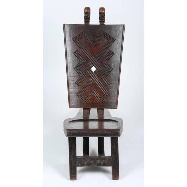 African Tribal Baluba Chief's Chair From Katanga For Sale - Image 4 of 8