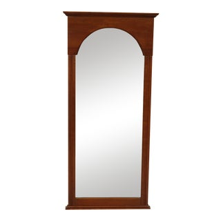 "Solid Cherry Wood Frame 45"" Wall Mirror For Sale"