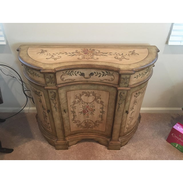 Painted accent table used to stage model home for sale, has 1 blemish that needs touch up, But excellent overall...