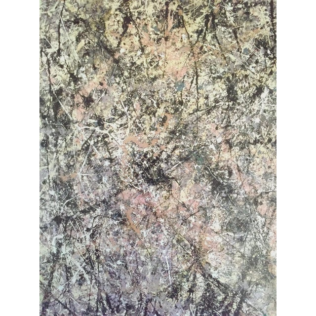 """Paper Jackson Pollock Foundation Abstract Expressionist Collector's Lithograph Print """" Lavender Mist : No. 1 """" 1950 For Sale - Image 7 of 13"""